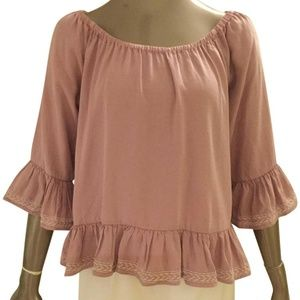 Walter by Walter Baker Pink Torrence Boho Blouse